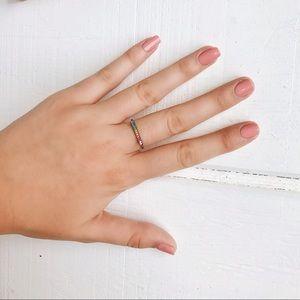 Madewell Jewelry - Rainbow Bar Ring